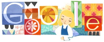 Mary Blair, logo Google