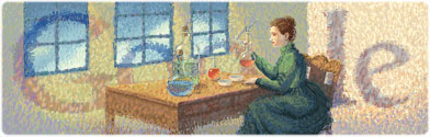 Marie Curie logo Google
