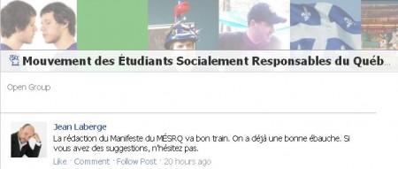 Jean Laberge - Manifeste